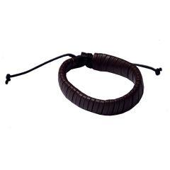 Men Style New Design  Brown  Leather Snake Bracelet For Men And Boy