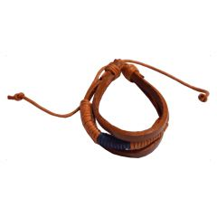 Men Style New Design  Brown  Leather Bracelet For Men And Boy