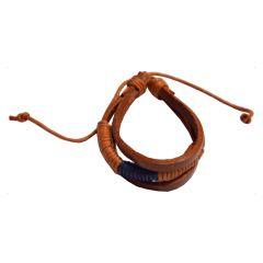 Men Style New Design  Brown  Leather Bracelet For Men And Boy