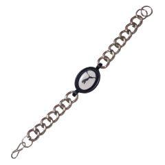 Men Style Puma Inspired  Black  Alloy Oval Bracelet For Men And Boy