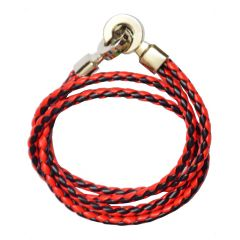 Men Style Men Style Best Quality Stainless Steel Double Braided Red Leather Bracelet For Men And Women