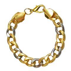 Men Style Dualtone Gold-Silver Link  Multicolor  Alloy  Bracelet For Men