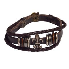 Men Style   Brown  Leather  Bracelet For Men SBr05023
