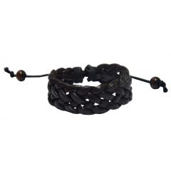 Men Style New 2016 Braided For Friendship Gift  Brown  Faux Leather Braided Bracelet For Men And Women