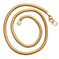 "Men Style  18"" Inch  Gold  Alloy Snake Chain For Men And Women"