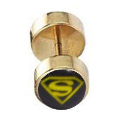 Men Style Monster Inspired Gold Alloy Dumbell Stud Earring For Men And Boy
