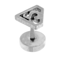 Ear rings - Men Style Superman Inspired Piercing   Silver  316 L Stainless Steel S Shape Stud Earring For Men And Boy SEr05012