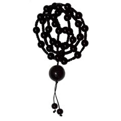 Men Style Shamballa 8mm crystal beaded necklaces jewelry With crystal Big Tone Black Crystal Circle