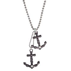 Men Style Grey  Anchor Inspired Shape   Pendent