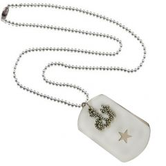 Men Style Stylish Allah And Star  Silver And White  Alloy Sqaure Necklace Pendant For Men And Boys