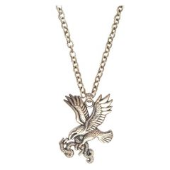 Men Style Antiqued  Tone Flying Eagle And Snake  Silver  Alloy Eagle Pend