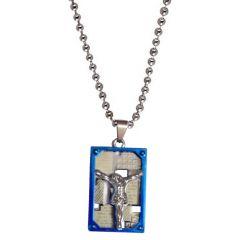 Men Style New Design Jesus Cross Silver Stainless Steel Pendent For Men