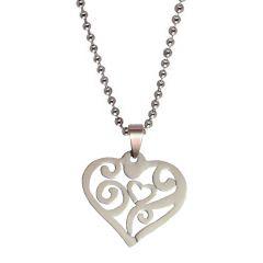 Men Style  New Design Love Silver  316 Stainless Steel Heart Shape Pendent For Men And Women SPn05011