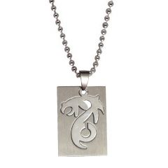 Men Style Best Quality Dragaon Cutting Shape  Silver  Stainless Steel Square Pendent For Men And Women SPn05084