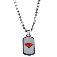 Men Style Sky Light Men Style  Blue  Red Superman Inspired  Chain Pendant