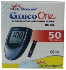 Dr.morepen Gluco One Blood Glucose Monitoring System BG-03 50 Test Strips