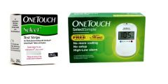 Johnson & Johnson One Touch Select Glucose Monitor With 35 Strips