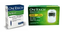Johnson & Johnson One Touch Select Glucose Monitor With 60 Strips