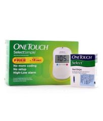 One Touch Select Glucose Monitor With 50 Test Strips Combo