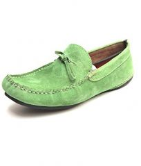 Molessi Spring Green Leather Loafer-(Code-ML15L004S7_P)