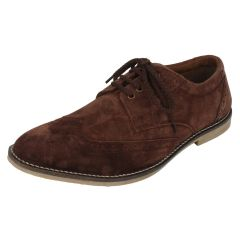 Molessi Mens Genuine  Suede Leather Brouge Casual Shoes -Tan - ( Code - ML15BR412S_P )
