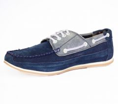 Formal Shoes (Men's) - Molessi Mens Suede Leather Blue Grey Crocodile Shoes - ( Code - ML15LC418S_P )