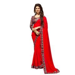 Stylish Fashion Gorgeous Red Designer Party Wear Saree-SFDIVYANKA-103