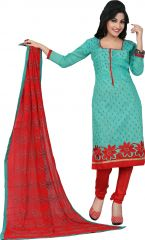 Stylish Fashion Glorious Sky Embroidered Straight Suit-SFP18-2071