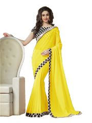 Stylish Fashion Gorgeous Designer Sarees-Yellow