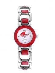 Arum Red Square Watch For Girls AW-099