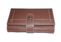 PE Womens Designer PU Leather Brown Wallet