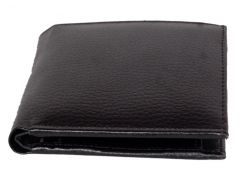 PE Mens New Style Money Purse Black PU Leather Wallet