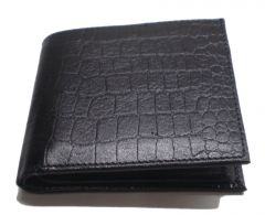 PE Mens Black Crocodile Leather Wallet - (Product Code - MW303_CR)