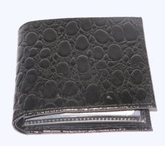 PE Mens New Style Crocodile Black Leather Wallet