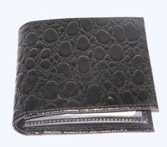 PE Mens New Style Crocodile Black Leather Wallet