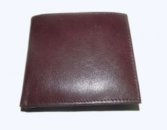PE Mens New Style Pure Sheep Brown Leather Wallet