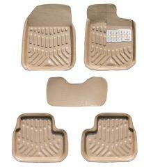 MP Premium Quality Car 4D Croc Textured Floor Mat Beige Maruti Wagon R