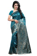 See More Self Design Rama Kanjivaram Art Silk Saree