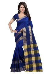 See More Self Designer  Blue  Color Poly  Cotton Saree With Blouse Piece RAJKALA BLUE