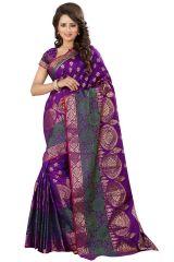 See More Self Designer Blue Color Kolam Patta Saree With Blouse Piece Sathiya Ragini Blue