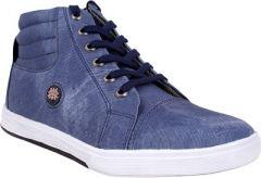 Semana Blue Canvas Casual Shoe S041