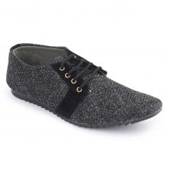 Semana Black Jute Casual Shoes