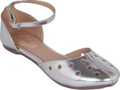 Flora Silver Synthetic Leather Flat Sandal For Women - (Product Code - PF-3005-21)