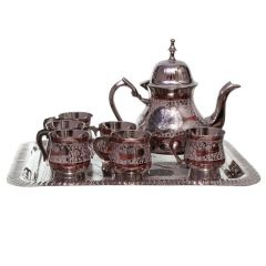 Pure Brass Royal Meenakari Work Real Tea Set