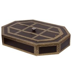 Beautiful Octagon Shape Golden Meenakari Dry Fruit Box