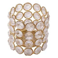 Crystal Tea Light Holder With LED Candle Stand - (Product Code - HCFPGT178)