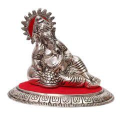 Glossy Aluminium Handicraft Aluminium Ganesha