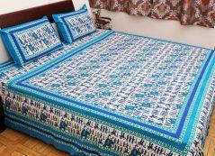 Gift Or Buy Pioneerpragati Royal Wedding Sanganeri Print Cotton Double Bed Sheet