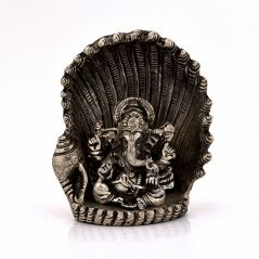 White Metal Antique Lord Ganesha On Naag Idol 310 By Pioneerpragati - (Product Code-PGT4HCF310)