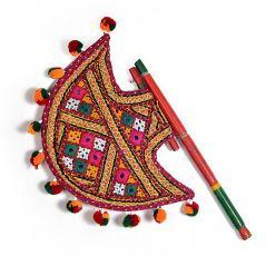 indian hand fan clipart. kutch gujarati art work ethnic colorful hand fan 371 by pioneerpragati - (product code- indian clipart d